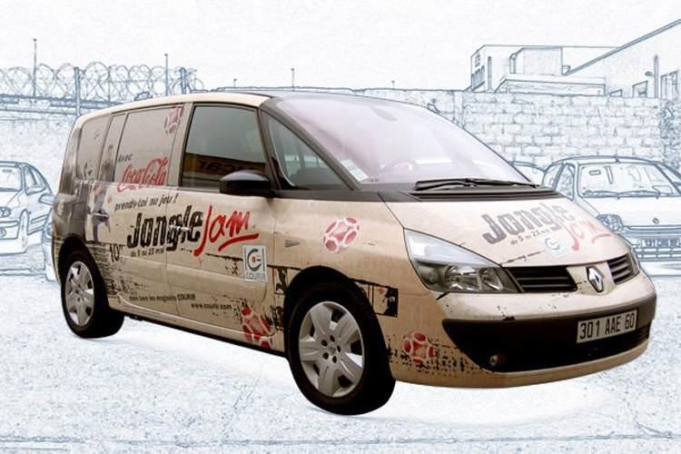 idzif pro total covering sur voiture renault espace pour coca cola. Black Bedroom Furniture Sets. Home Design Ideas