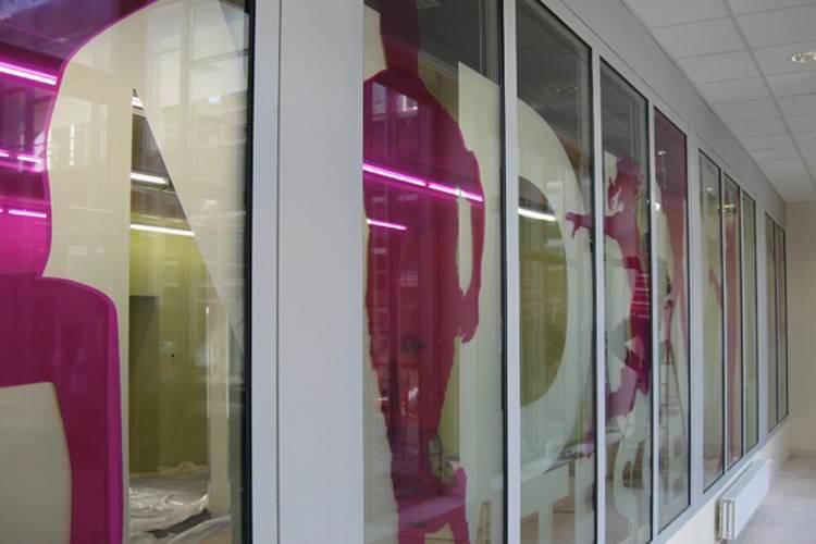 idzif pro  film adhésif dépoli sur vitres intérieures