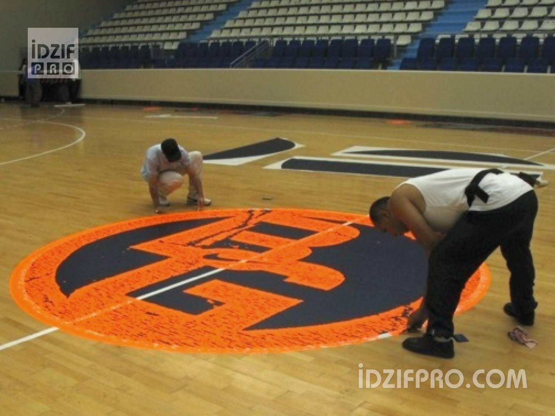 Sol Terrain De Basket idzif pro - marquage au sol sur terrain de basket