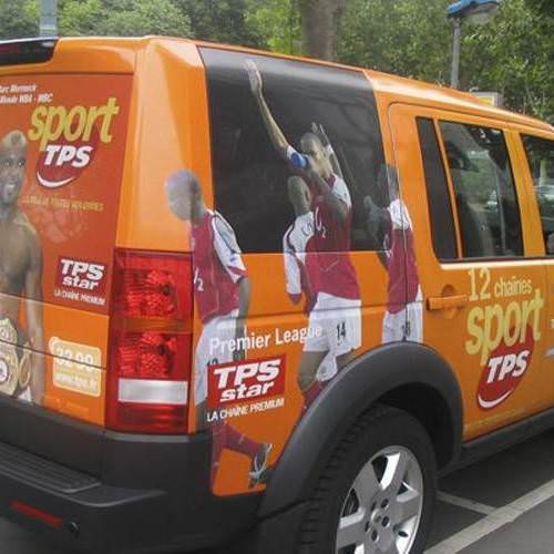 Total covering des véhicules du Tour de France de TPS