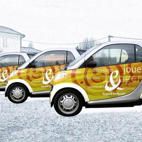 Total covering sur car et Smart pour opé : France Telecom