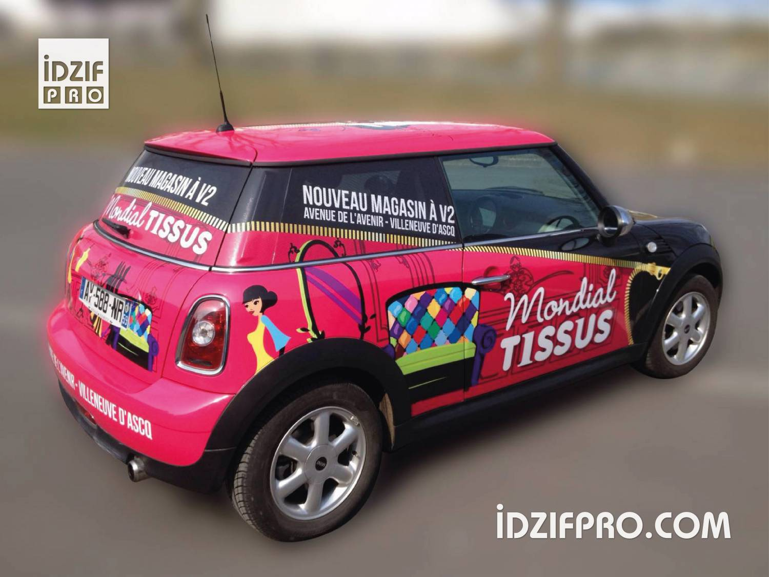 Total covering sur mini cooper