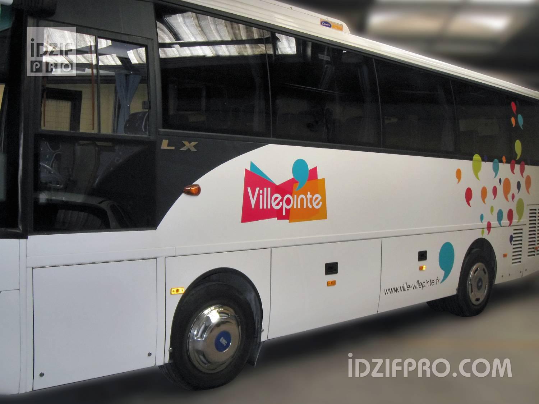 idzif pro marquage adh sif sur une flotte de bus. Black Bedroom Furniture Sets. Home Design Ideas