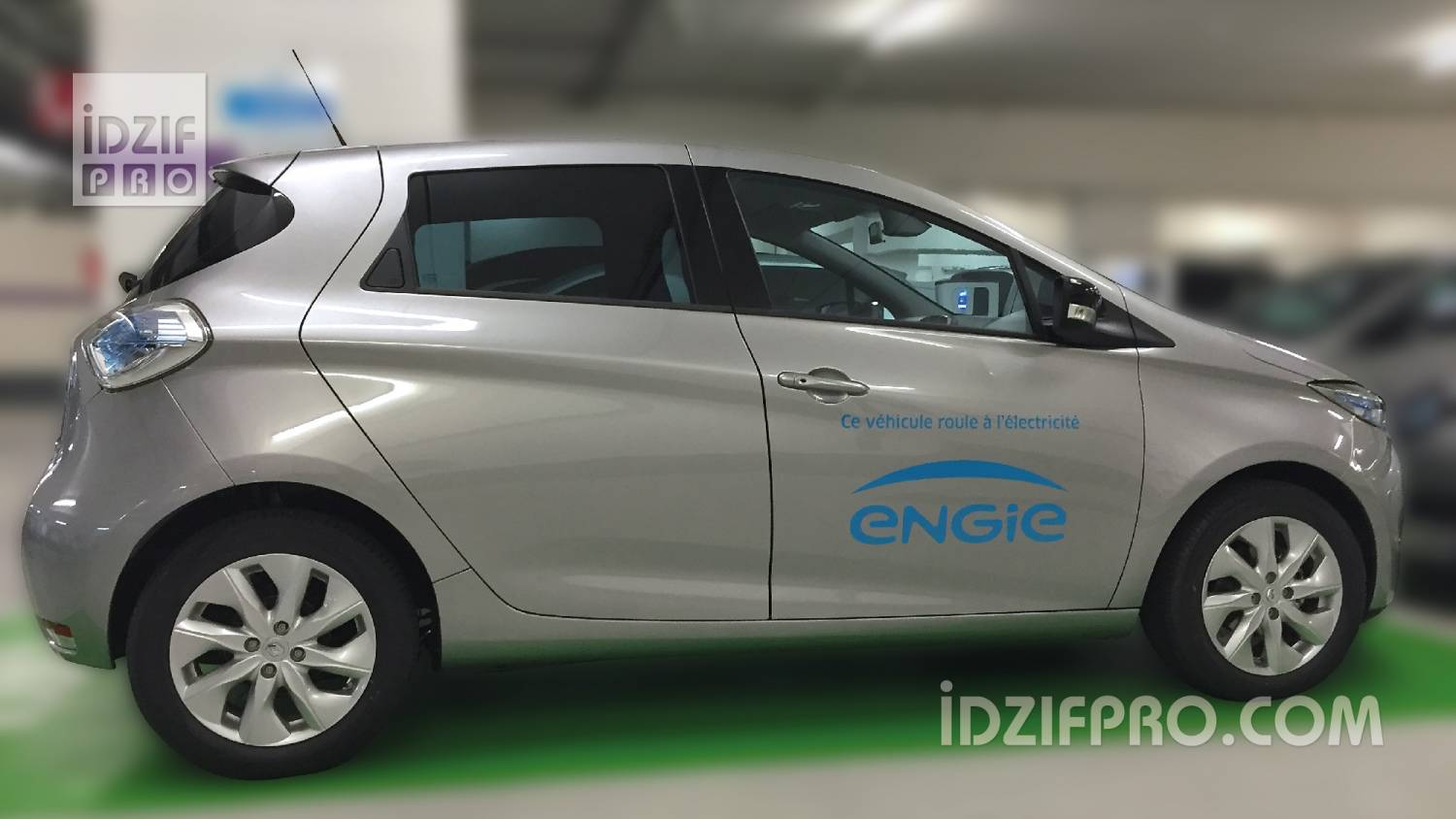 marquage voiture electrique ENGIE iDzifPro