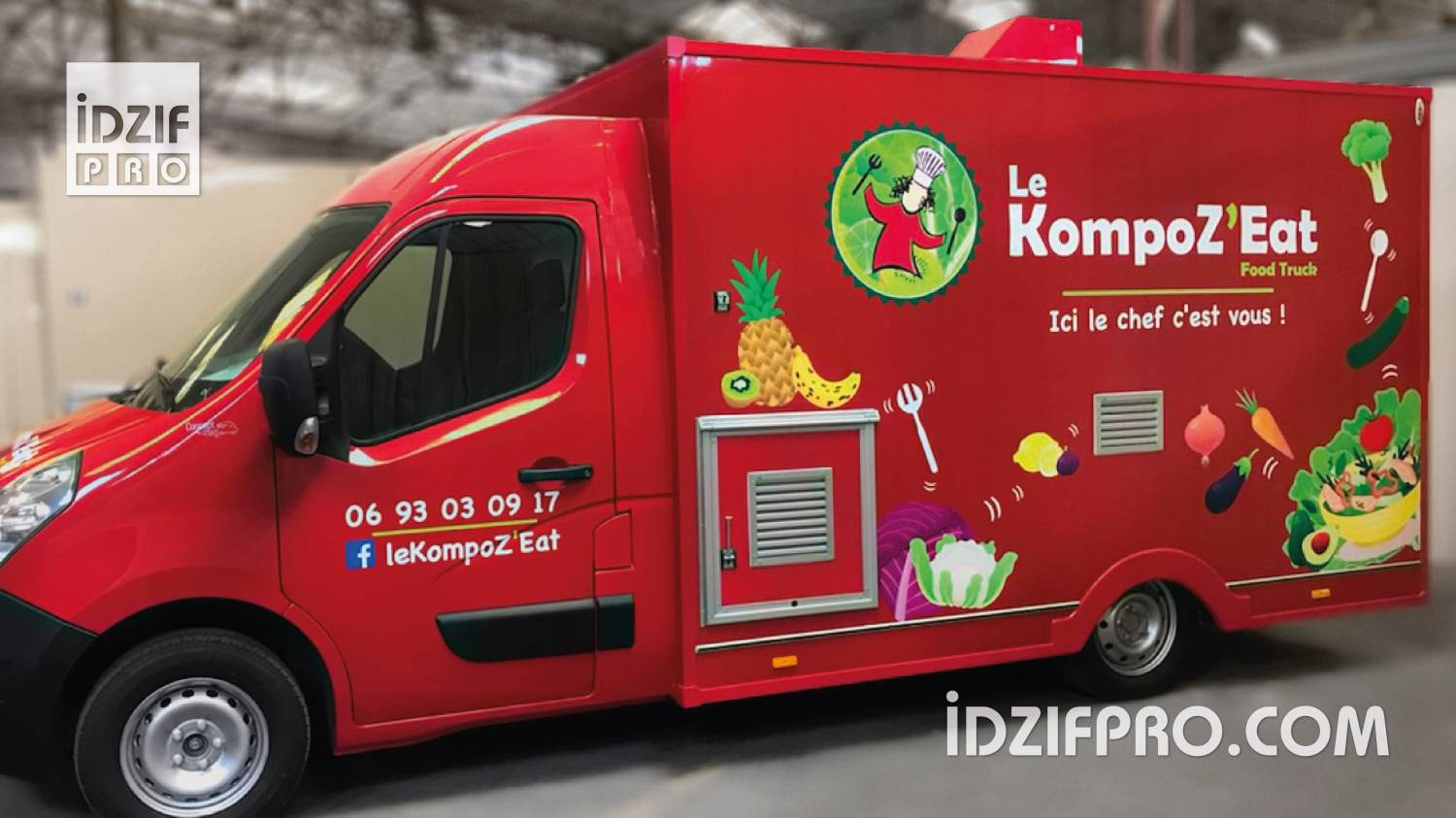 Covering publicitaire sur food truck