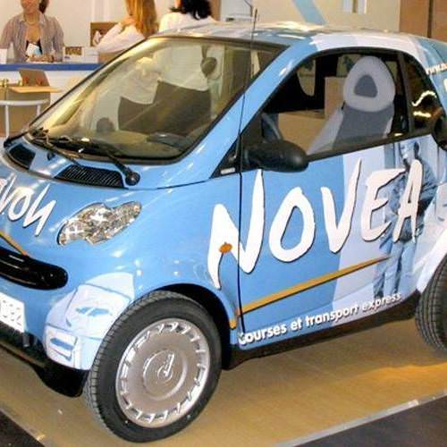 Total covering sur voiture smart NOVEA