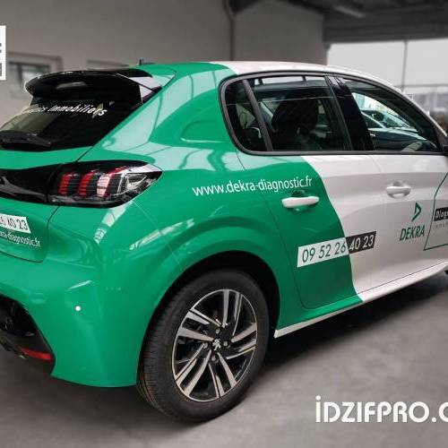 Covering bi color sur peugeot 208