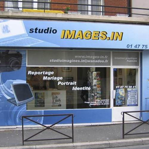 Habillage de façade de magasin Studio Images.in